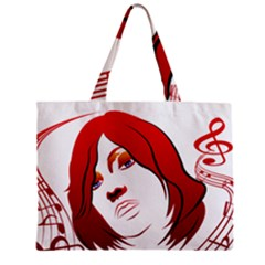 Women face with clef Zipper Tiny Tote Bags