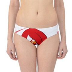 Women face with clef Hipster Bikini Bottoms