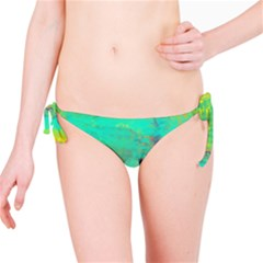 Abstract in Turquoise, Gold, and Copper Bikini Bottoms