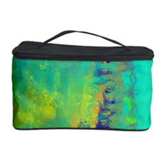 Abstract In Turquoise, Gold, And Copper Cosmetic Storage Cases