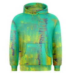 Abstract in Turquoise, Gold, and Copper Men s Pullover Hoodies