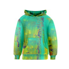 Abstract in Turquoise, Gold, and Copper Kid s Pullover Hoodies