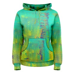 Abstract In Turquoise, Gold, And Copper Women s Pullover Hoodies