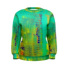 Abstract in Turquoise, Gold, and Copper Women s Sweatshirts