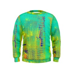 Abstract In Turquoise, Gold, And Copper Boys  Sweatshirts
