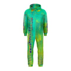 Abstract in Turquoise, Gold, and Copper Hooded Jumpsuit (Kids)