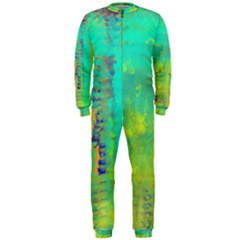 Abstract in Turquoise, Gold, and Copper OnePiece Jumpsuit (Men)