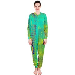 Abstract in Turquoise, Gold, and Copper OnePiece Jumpsuit (Ladies)
