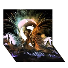Wonderful Horses In The Universe Ribbon 3D Greeting Card (7x5)