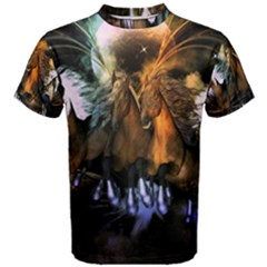 Wonderful Horses In The Universe Men s Cotton Tees