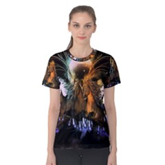Wonderful Horses In The Universe Women s Cotton Tees