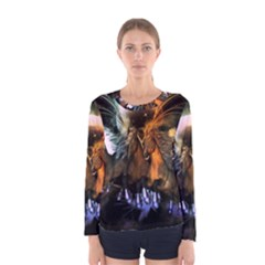 Wonderful Horses In The Universe Women s Long Sleeve T Shirts