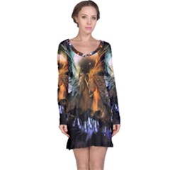 Wonderful Horses In The Universe Long Sleeve Nightdresses