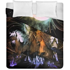 Wonderful Horses In The Universe Duvet Cover (double Size)
