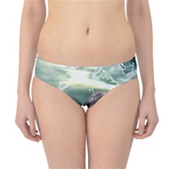 Funny Dolphin Jumping By A Heart Made Of Water Hipster Bikini Bottoms