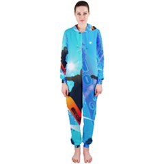 Snowboarding Hooded Jumpsuit (Ladies)