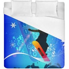 Snowboarding Duvet Cover Single Side (kingsize)