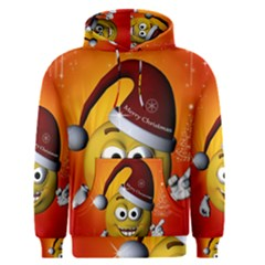 Cute Funny Christmas Smiley With Christmas Tree Men s Pullover Hoodies