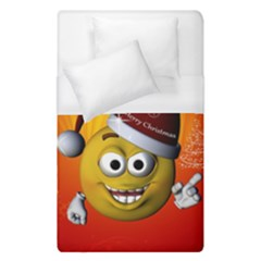 Cute Funny Christmas Smiley With Christmas Tree Duvet Cover Single Side (single Size)