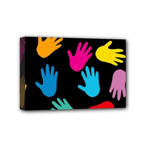 All Over Hands Mini Canvas 6  X 4