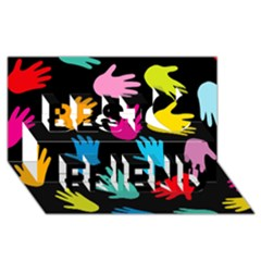 All Over Hands Best Friends 3D Greeting Card (8x4)