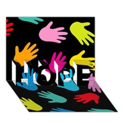 All Over Hands HOPE 3D Greeting Card (7x5)