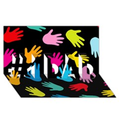 All Over Hands #1 DAD 3D Greeting Card (8x4)