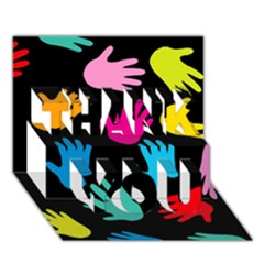 All Over Hands THANK YOU 3D Greeting Card (7x5)