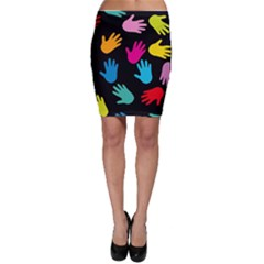 All Over Hands Bodycon Skirts