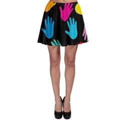 All Over Hands Skater Skirts
