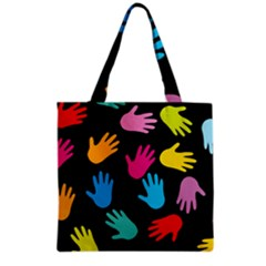 All Over Hands Grocery Tote Bags
