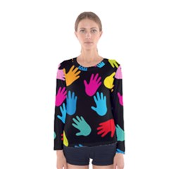 All Over Hands Women s Long Sleeve T-shirts