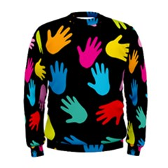 All Over Hands Men s Sweatshirts