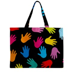 All Over Hands Zipper Tiny Tote Bags