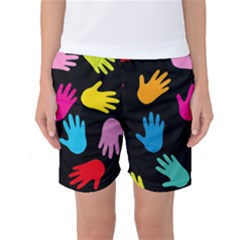 All Over Hands Women s Basketball Shorts