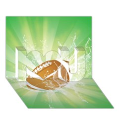 American Football  I Love You 3d Greeting Card (7x5)