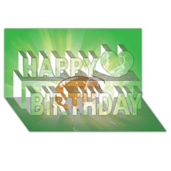American Football  Happy Birthday 3D Greeting Card (8x4)