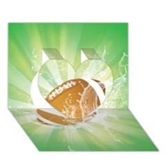 American Football  Heart 3d Greeting Card (7x5)