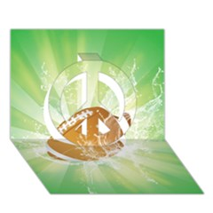 American Football  Peace Sign 3d Greeting Card (7x5)