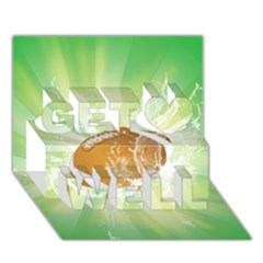 American Football  Get Well 3D Greeting Card (7x5)