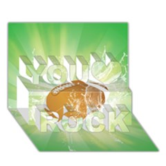 American Football  You Rock 3d Greeting Card (7x5)