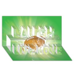 American Football  Laugh Live Love 3d Greeting Card (8x4)