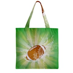 American Football  Zipper Grocery Tote Bags