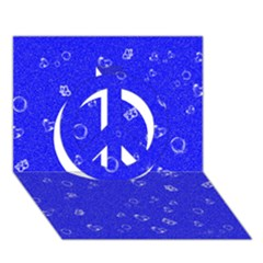 Sweetie Blue Peace Sign 3D Greeting Card (7x5)