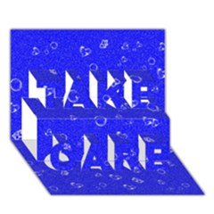 Sweetie Blue Take Care 3d Greeting Card (7x5)