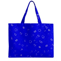 Sweetie Blue Zipper Tiny Tote Bags