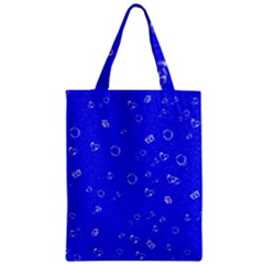 Sweetie Blue Zipper Classic Tote Bags