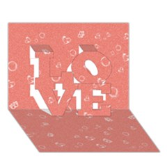 Sweetie Peach Love 3d Greeting Card (7x5)