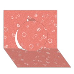 Sweetie Peach Circle 3d Greeting Card (7x5)