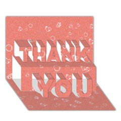 Sweetie Peach THANK YOU 3D Greeting Card (7x5)